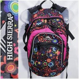 #621 EUC! HIGH SIERRA multi-color book bag